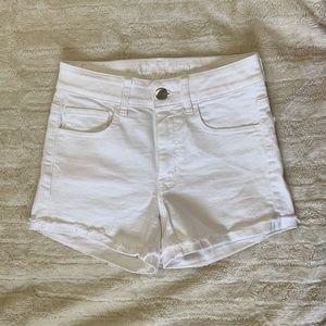 American Eagle HiRise Shortie Jean Shorts
